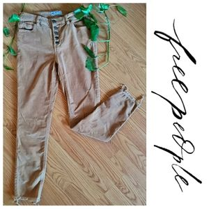 High Waist Button Fly Free People Corduroy Pants